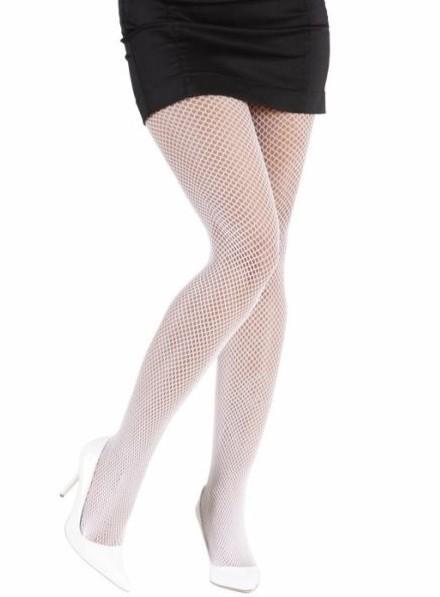 Seductora medias de rejilla blanco XL