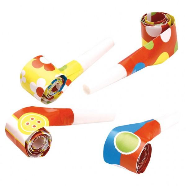 Joyeux anniversaire célébration des cornes de trompette