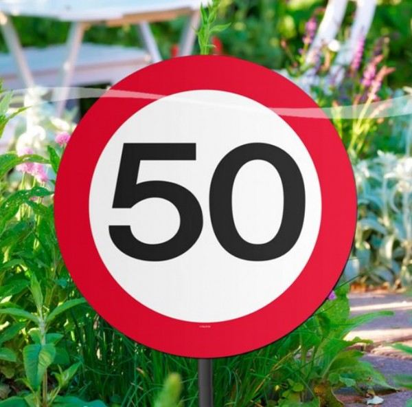 Traffic sign 50 flower beds 52cm
