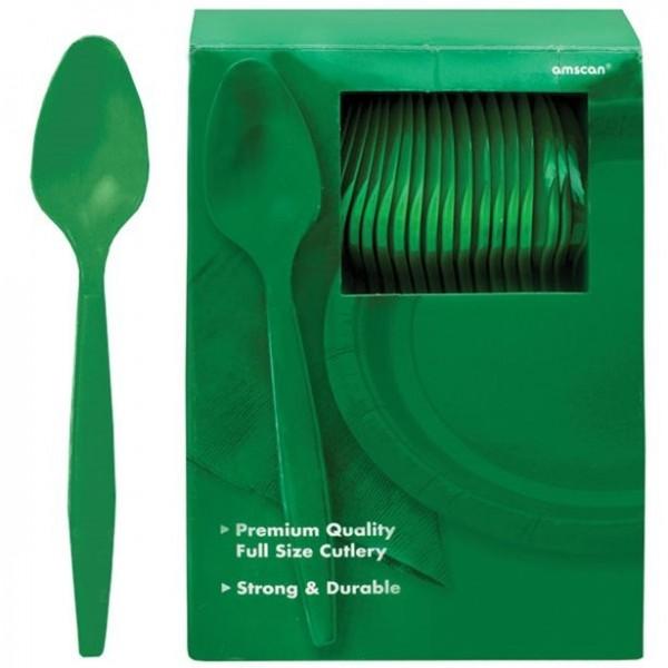 100 zielonych łyżek wielokrotnego użytku