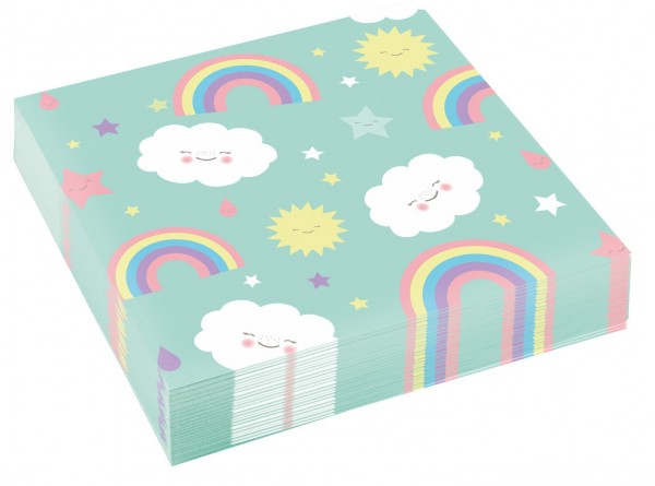 20 sweet cloud world napkins 33cm