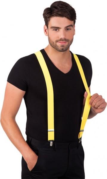 Neon-Gelbe Party Hosenträger