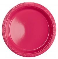 10 Kunststoffteller Mila pink 17,7cm