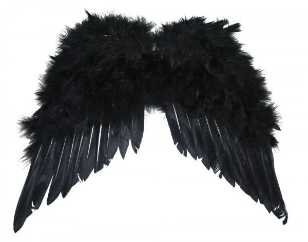 Alas de plumas ángel negro