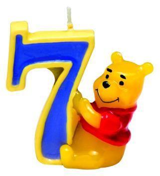 Winnie Puuh Happy Birthday Kerze 7. Geburtstag