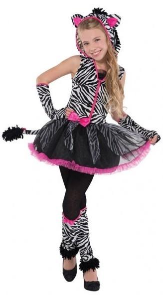 Süßes Ballerina Zebra Kostüm für Mädchen