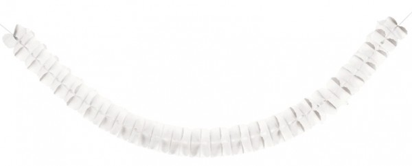 Ruched garland Norma white 3m