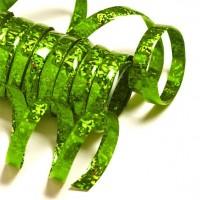 Holo-Party Luftschlangen grün 3,8m