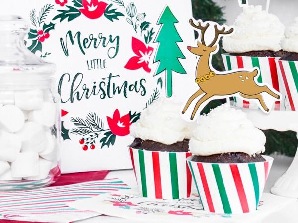 6 petites frontières de cupcake de Noël