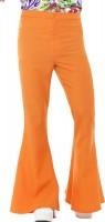 70er Jahre Hippie Schlaghose Herren Orange