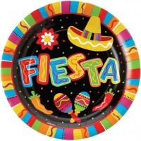 8 Spicy Fiesta Pappteller 27cm