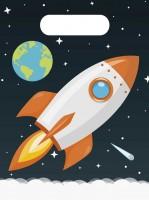 6 Weltraum Geschenktüten Mondfahrt
