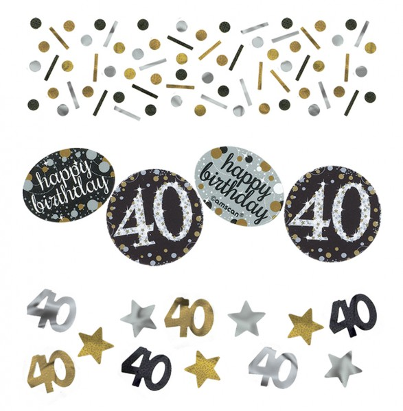 Golden 40th Birthday sprinkle decoration 34g
