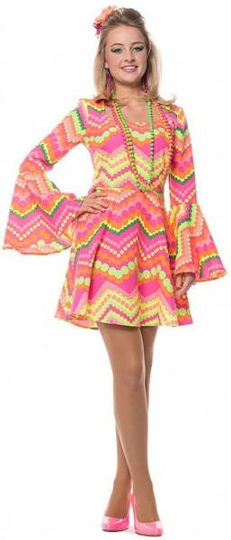 Retro 70er Jahre Kleid Damenkostüm