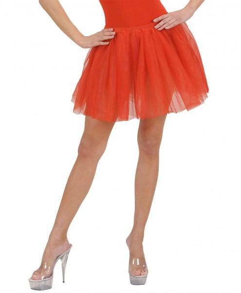 Jupe tutu ballerine rouge
