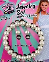 Weißes Perlen Schmuck Set