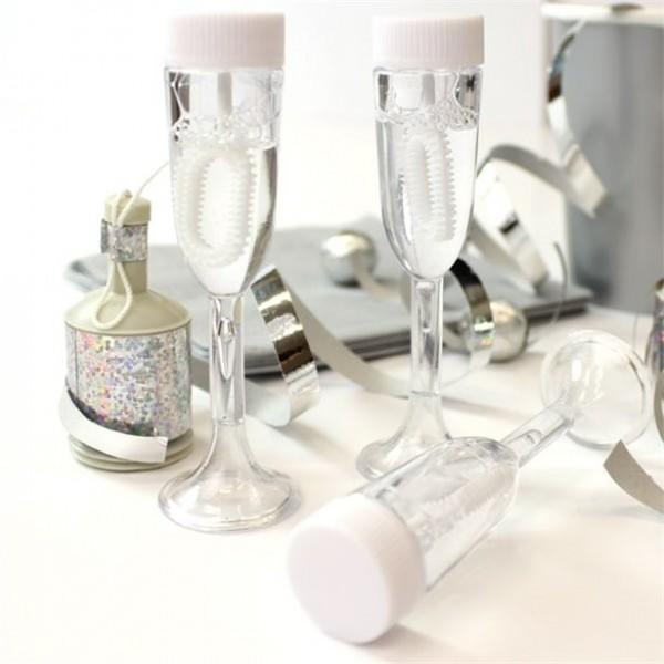 24 Seifenblasen Champagnergläser 9cm