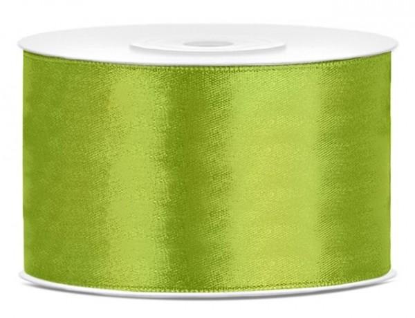Nastro di raso verde mela lucido 25m