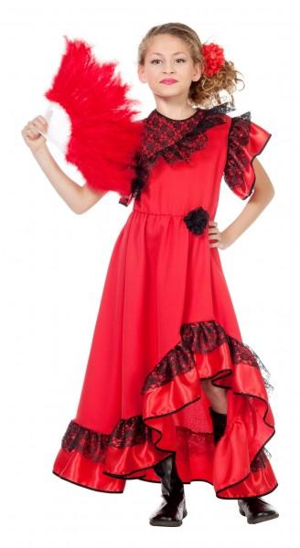 Fina Flamenco Tänzerin Mädchenkostüm