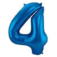 XXL Zahlenballon 4 Blau 86cm