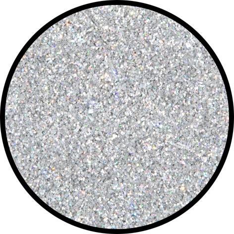 Silberner Juwel Glitzer Holographisch