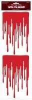 2 Bloody Hell Blutspuren Sticker 49 x 16cm