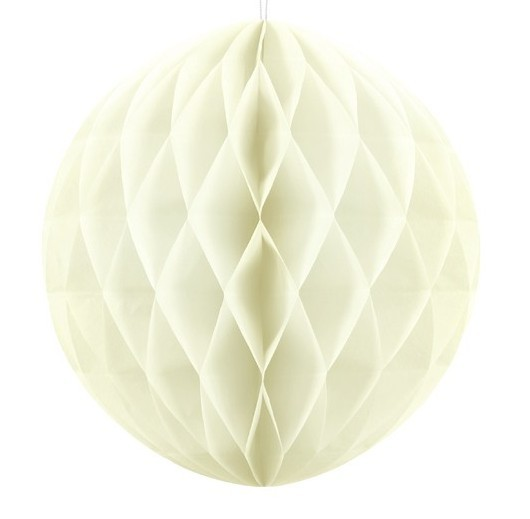 Honeycomb ball Lumina cream 30cm