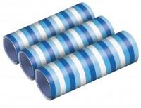 3 Shiny Blue Luftschlangen 4m