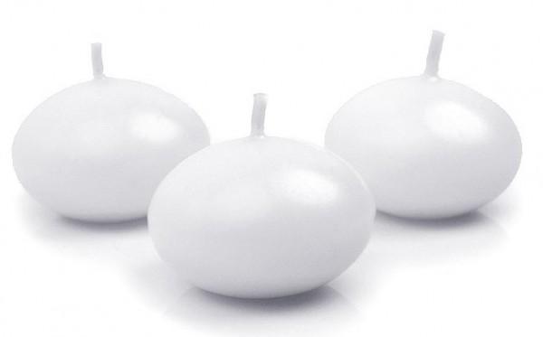 50 bougies flottantes Siena blanc 4cm