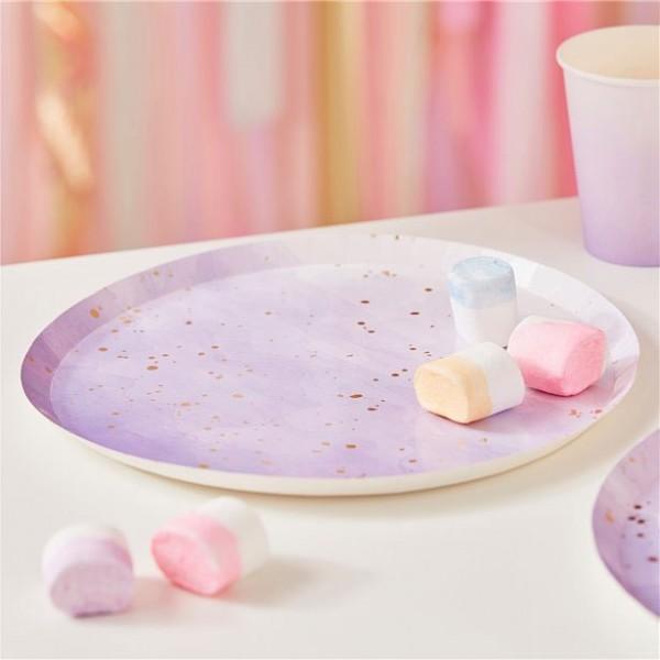 8 Lavendel Birthday Pappteller 24cm