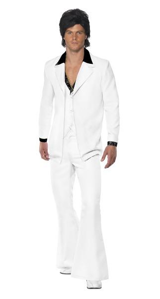 Costume des années 70 blanc