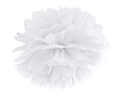 Pompon Romy weiß 25cm