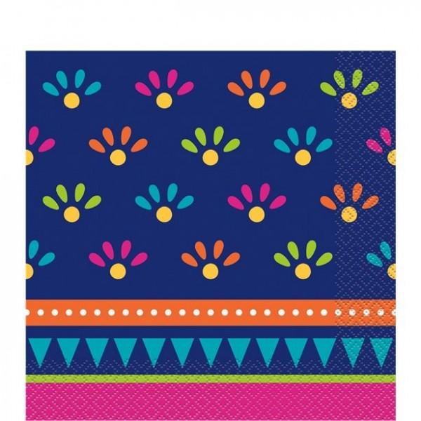 20 Boho Chic Fiesta Papierservietten 33 x 33cm