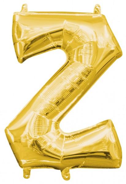 Mini foil balloon letter Z gold 35cm