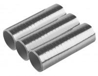 3 Shiny Silver Luftschlange 4m