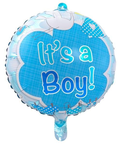 "New Baby Boy Blue Stork Foil Large Helium Balloon 53/"""