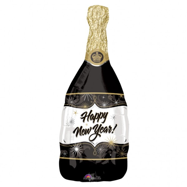 New Year Champagner Folienballon 36 x 91cm
