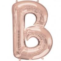Buchstabe B Folienballon roségold 41cm