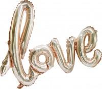 Folienballon Love rosegold 73 x 60cm