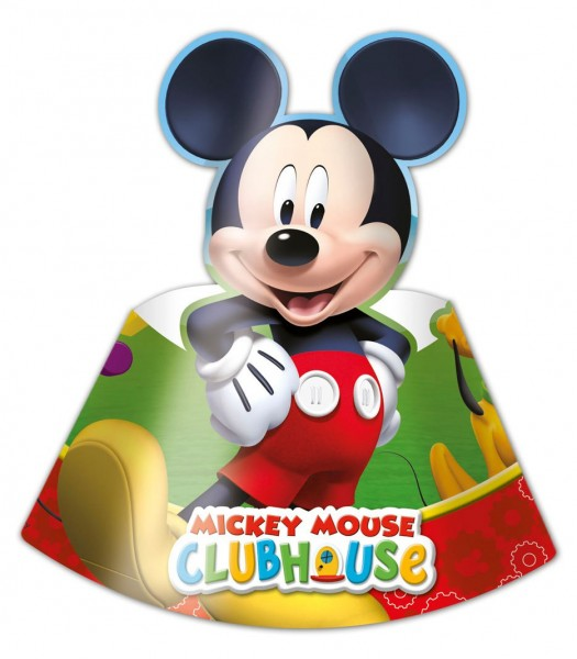 6 Mickey Mouse party friends party hats