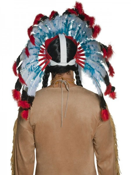 Imposanter Indianer Häuptling Federkopfschmuck