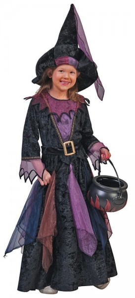 Costume da strega giocoso per bambina