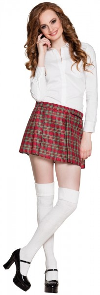 Short girlie tartan skirt