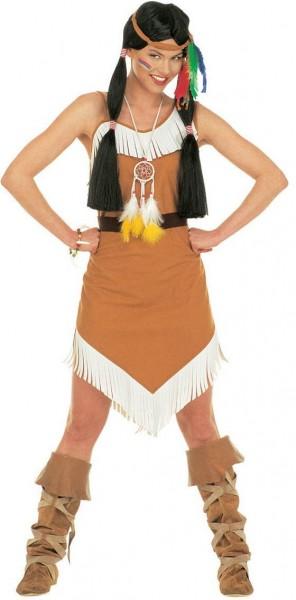 Stolze Indianer Kriegerin Damenkostüm