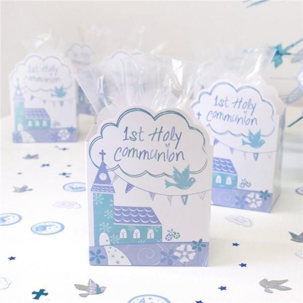 8 Gods zegen communie geschenkdoosjes blauw
