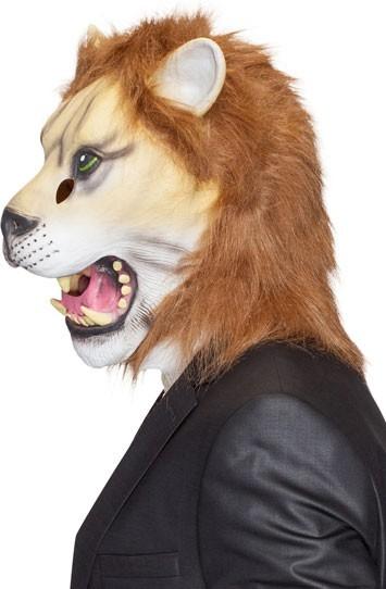 Realistische Löwen Maske Mit Fell