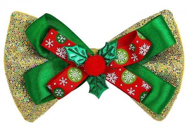Grüne Glitzer Weihnachtsfliege Unisex