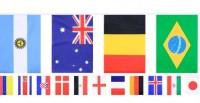 One World Länder-Flaggen Girlande 9,9m