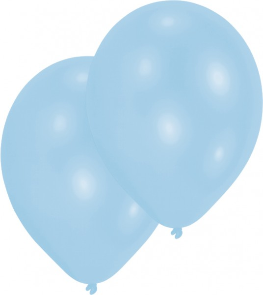 Set of 10 air balloons light blue 27.5cm