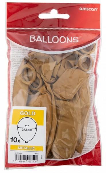 10 ballons dorés Bâle 27,5 cm